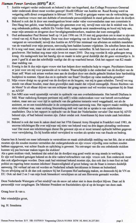 CTIVD Onderzoek Hans Smedema Affaire!