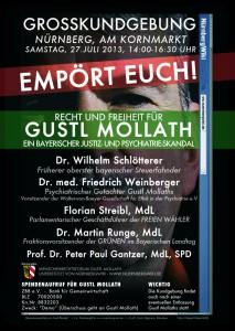 Gustl Mollath Demo Plakat