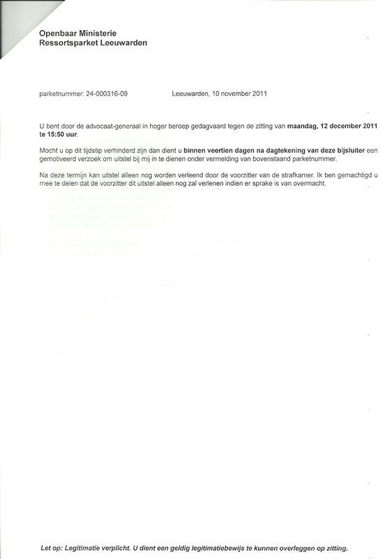 Hoger Beroep Smedema Affaire!