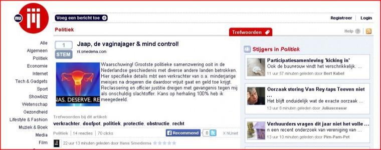 Ban door NuJij.nl, alle berichten gewist!