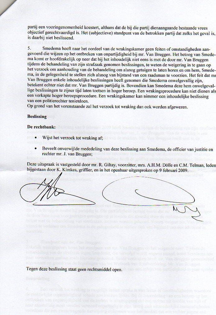 Fraude door Politierechter Jeroen van Bruggen rechtbank Leeuwarden
