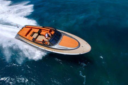 HEEG - Een handout van speedboot Osprey 38 van de Nederlandse scheepswerf Wajer & Wajer. Koning Willem-Alexander heeft een Osprey 38 aangeschaft. De vorst kocht het luxueuze jacht van Wajer & Wajer Yachts voor gebruik bij zijn Griekse villa. ANP HANDOUT WAJER & WAJER / NO ARCHIVES / NO SALES / EDITORIAL USE ONLY
